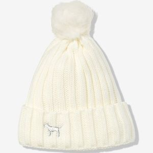 Victoria's Secret PINK Sherpa Lined Beanie Hat 1